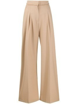Alysi high-waisted wide leg trousers - NEUTRALS