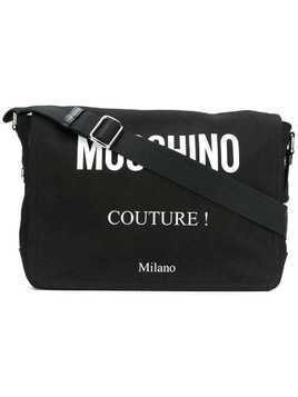 Moschino logo messenger bag - Black