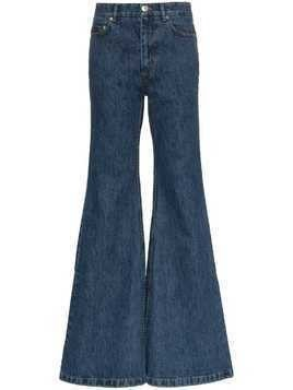 Matthew Adams Dolan Ultra-flared denim jeans - Blue
