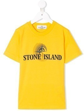 Stone Island Junior logo print T-shirt - Yellow