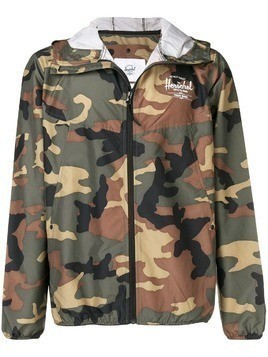 Herschel Supply Co. camouflage hooded wind-breaker jacket - Green
