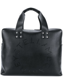 Stella McCartney - perforated logo shoulder bag - Herren - Artificial Leather/Calf Leather - One Size - Black