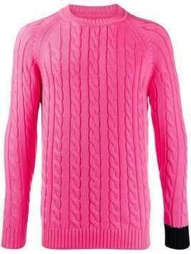 Lc23 cable knit jumper - Pink