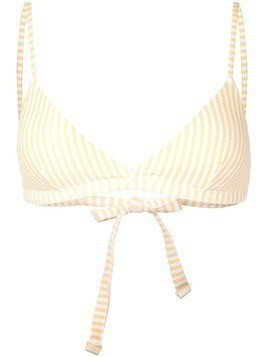 Asceno striped bikini top - Yellow