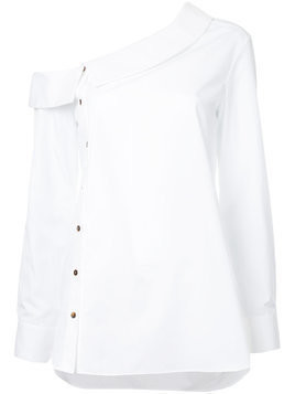 Monographie asymmetric buttoned shirt - White