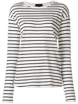 Theory striped sweater - White