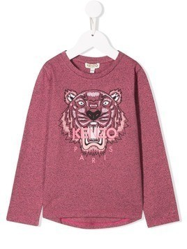 Kenzo Kids embroidered tiger top - Pink