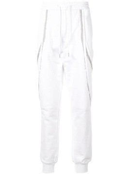 Fengchen Wang contrasting stripe track pants - White
