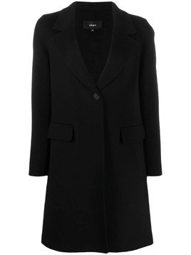 Arma single breasted coat - Black