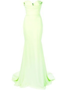 Alex Perry fitted sweetheart gown - Green