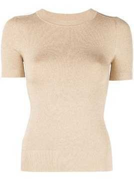 JoosTricot lurex knitted top - Gold