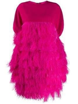 Gianluca Capannolo short feather dress - PINK