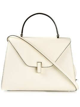 Valextra fold over tote bag - White