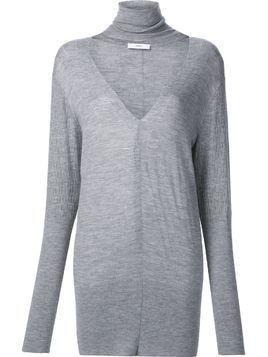 Tome 'Deep V Turtleneck' sweater - Grey