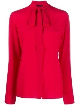 Haider Ackermann neck-tie blouse - Red