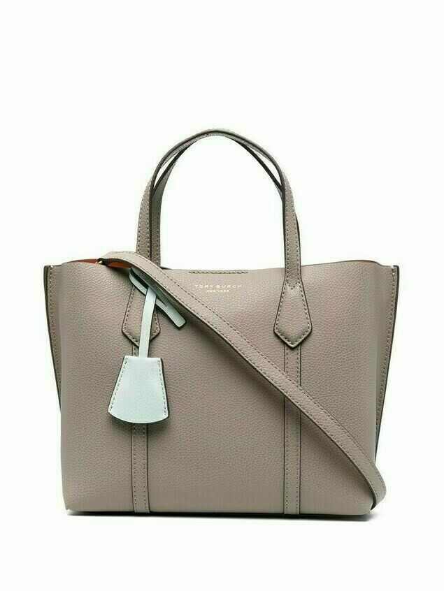 Tory Burch small Perry leather tote bag - Grey