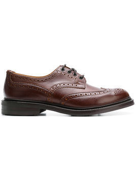 Trickers punch-hole derby shoes - Brown
