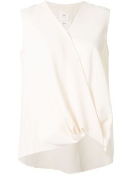 Kuho wrap V-neck blouse - White
