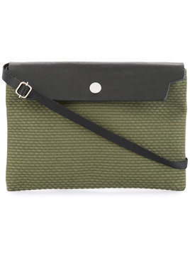 Cabas contrast flap mini bag - Green