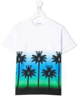 Marcelo Burlon County Of Milan Kids palm print T-shirt - White