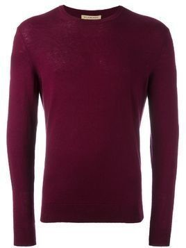 Burberry elbow patch jumper - Red
