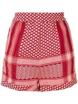 Cecilie Copenhagen patterned shorts - Red