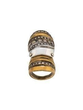 Loree Rodkin embellished armour ring - GOLD