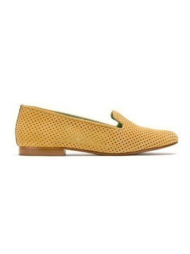 Blue Bird Shoes sude loafers - Yellow