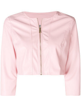 Liu Jo cropped bomber jacket - Pink & Purple