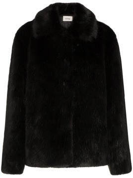 Toteme collared faux fur jacket - Black