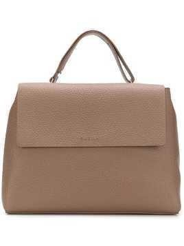 Orciani flap top tote - Nude & Neutrals