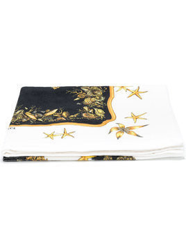 Versace printed beach towel - White