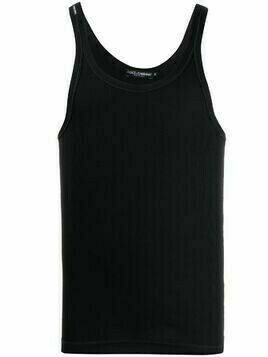 Dolce & Gabbana scoop-neck tank top - Black