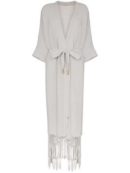 Caravana Kusam fringed robe - Blue