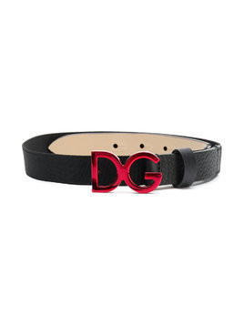 Dolce & Gabbana Kids logo buckle belt - Black