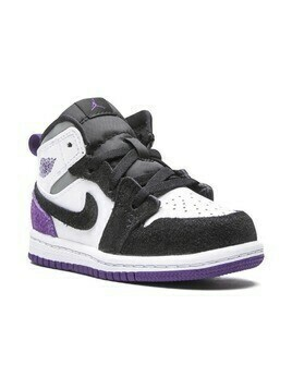 "Jordan Kids Air Jordan 1 Mid SE ""Purple Suede"" sneakers - White"