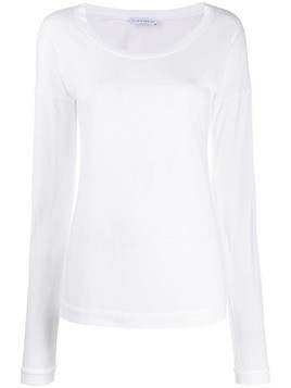 Fine Edge fine knit top - White