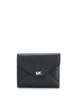Michael Michael Kors logo flap purse - Black