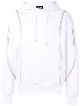 Fengchen Wang contrasting stripe hoodie - White