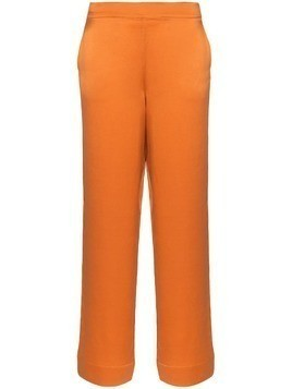 Asceno pyjama-style wide-leg trousers - Orange