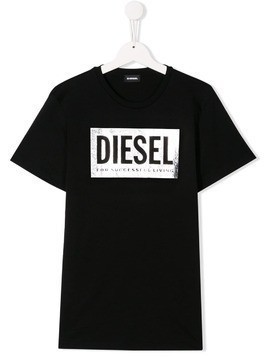 Diesel Kids branded T-shirt - Black