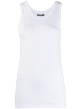 Ann Demeulemeester embroidered tank top - White