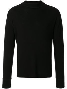 Margaret Howell long sleeved fine knit top - Black