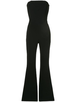 Isabel Sanchis stretch skinny flare jumpsuit - Black