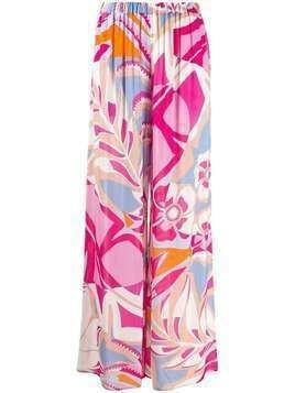 Emilio Pucci abstract print wide-leg trousers - PINK