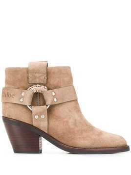 See By Chloé cowboy ankle boots - NEUTRALS
