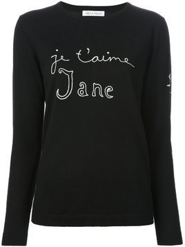 Bella Freud 'Je t'aime Jane' sweater - Black
