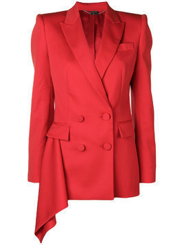 Alexander McQueen double-breasted boxy blazer - Red