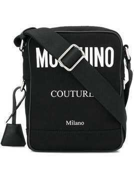 Moschino small logo messenger bag - Black
