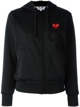 Comme Des Garçons Play embroidered heart hoodie - Black